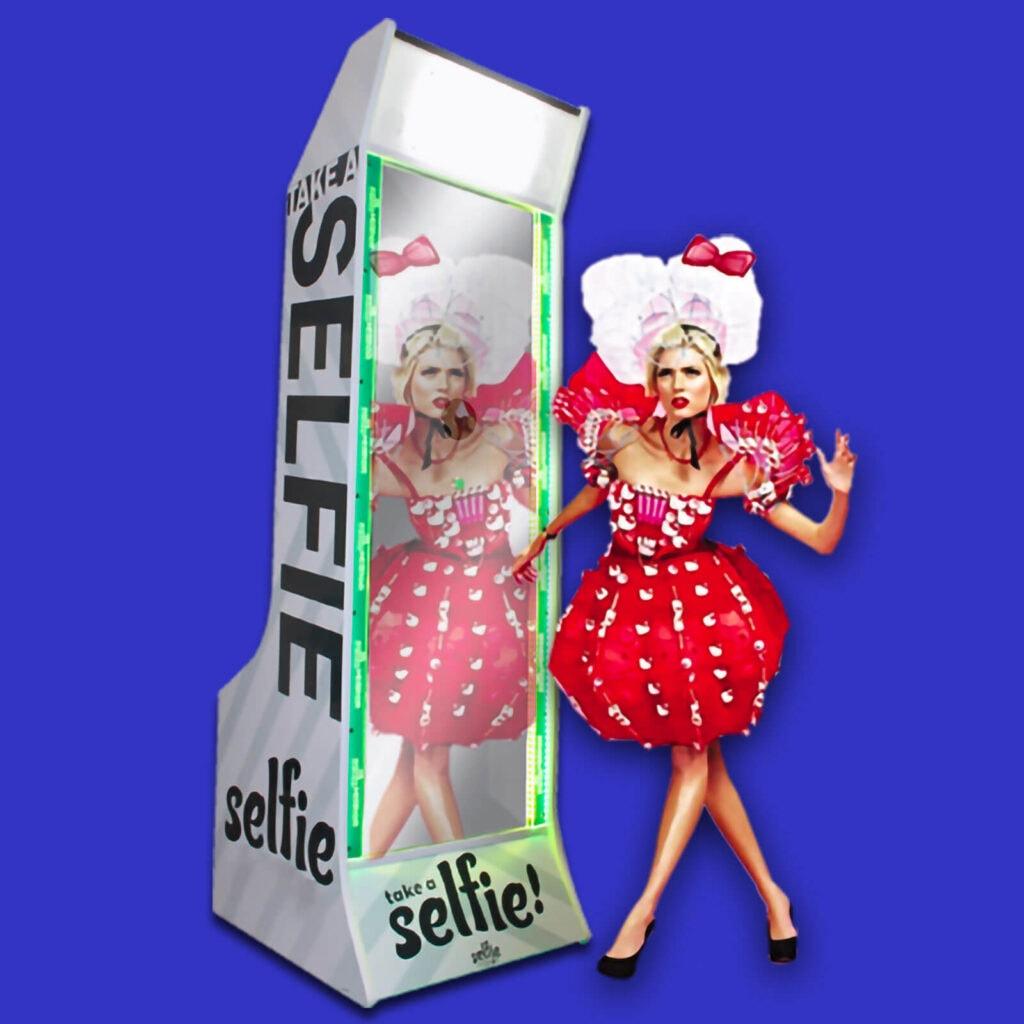 Animation événementielle : Prenez la pose devant le miroir Photobooth Selfiebox
