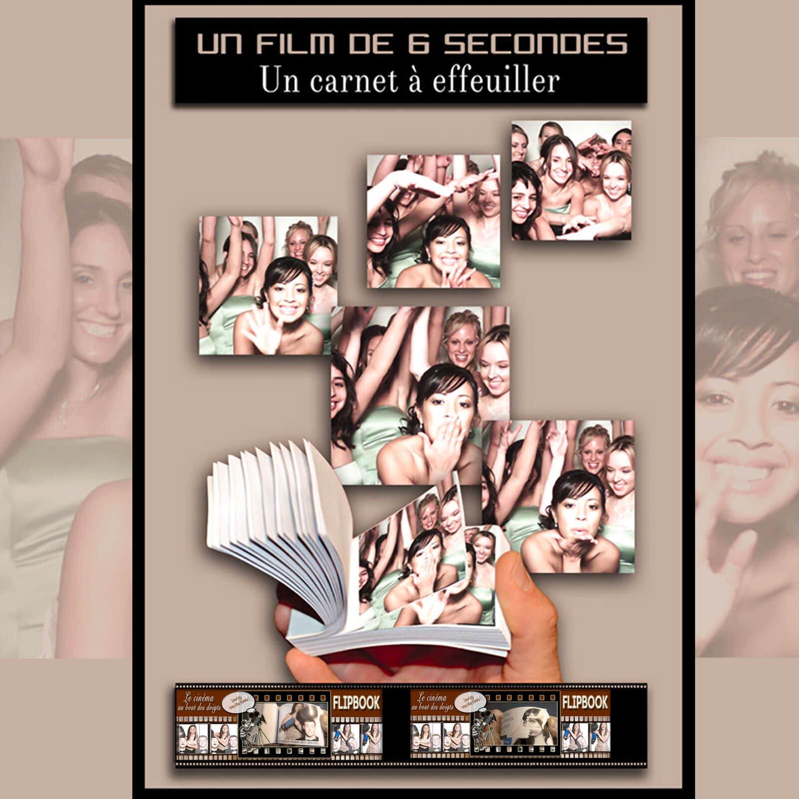 Flipbook animation pour mariage et soirée privée