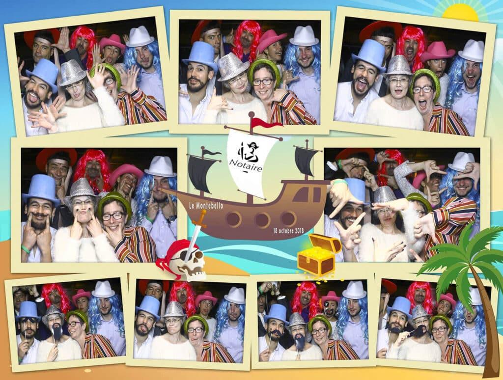 Photobooth Interactif : Une planche de 9 photos réalisée lors d'un événement d'entreprise