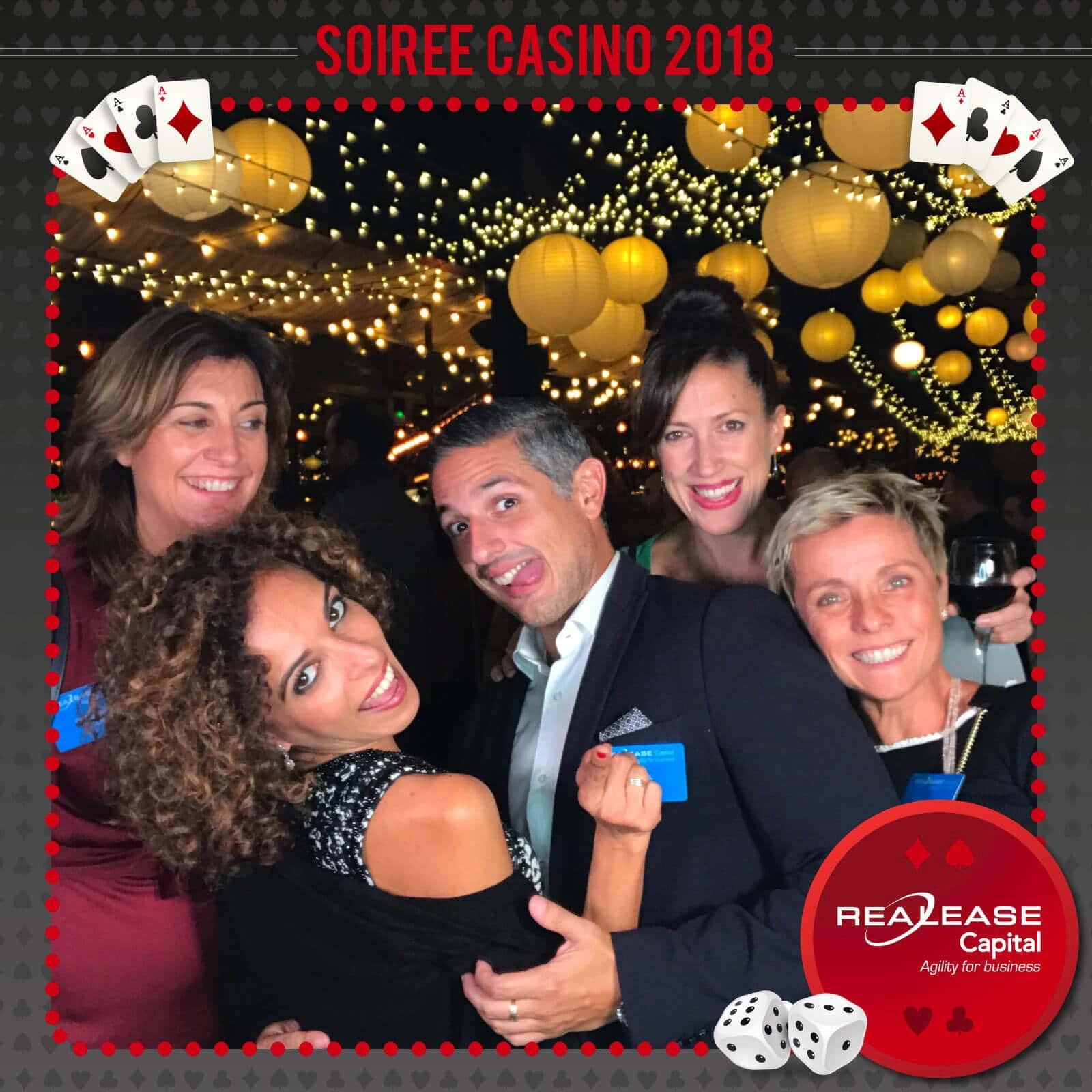 Photobooth mobile : Réalisation au cours d'une soirée événementielle (soirée casino)