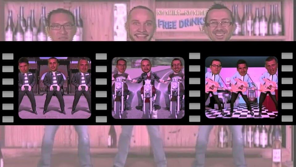 Animation video fond vert : Animation têtes dansantes 100% participative