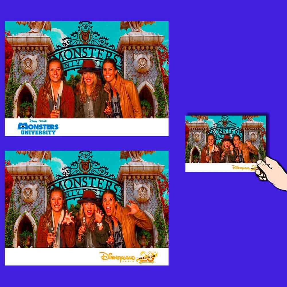 animation photo hologramme : 2 photos en 1 réalisée pour la sortie du film Monsters à Disneyland
