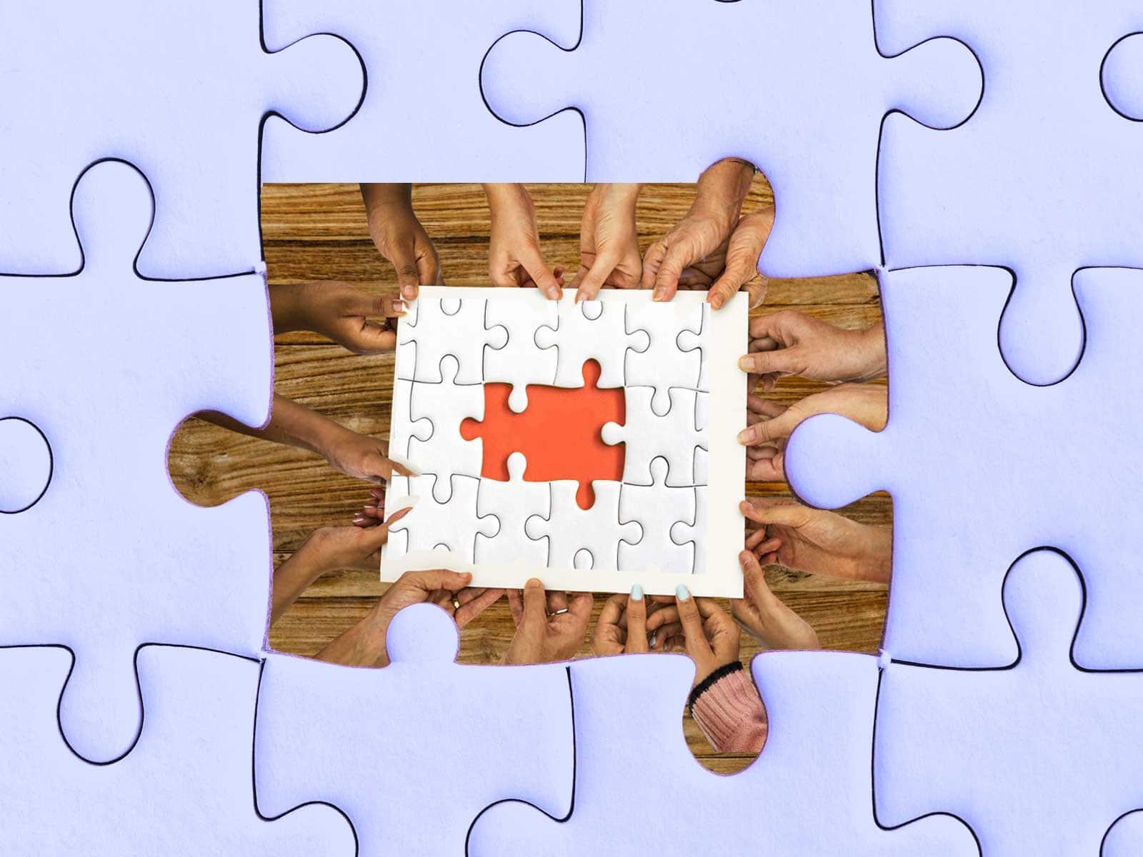 Qu'est-qu'une animation team Building ? Un puzzle à contruire en équipe